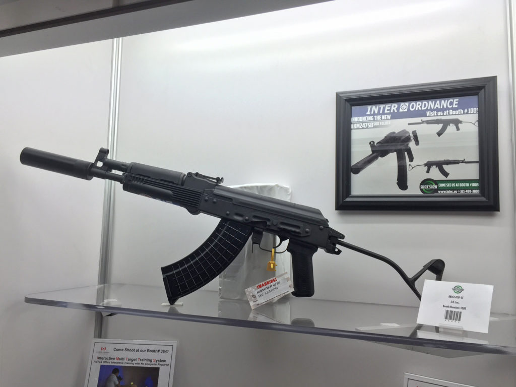We displayed one of our SBR Ready Rifles in the New Product Showcase